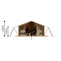 Tente en bois et toile : dimension