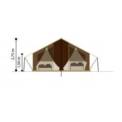 Dimension de la tente en toile et bois