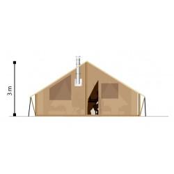 Tente locative en toile et bois